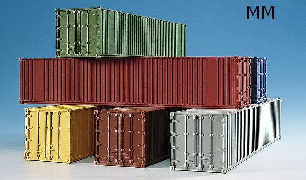 kibri 10922 40 fu container pack 6 st ck 2m modellbahnen. Black Bedroom Furniture Sets. Home Design Ideas
