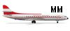 Herpa 505017 1-500 Austrian Airlines Sud Aviation Carav